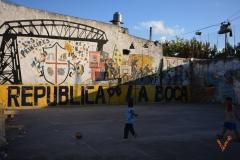 стадион в бедном районе Буэнос Айреса