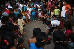 уличное представление Икитос Перу