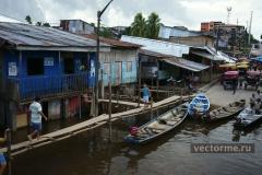 дома на воде Перу