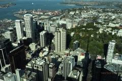 Вид на Окленд и гавань из Небесной башни