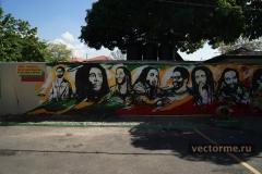 Стены музея Боба Марли в Кингстоне