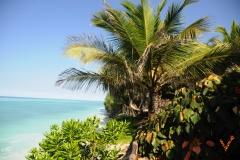 бесконечный белый пляж острова Занзибар