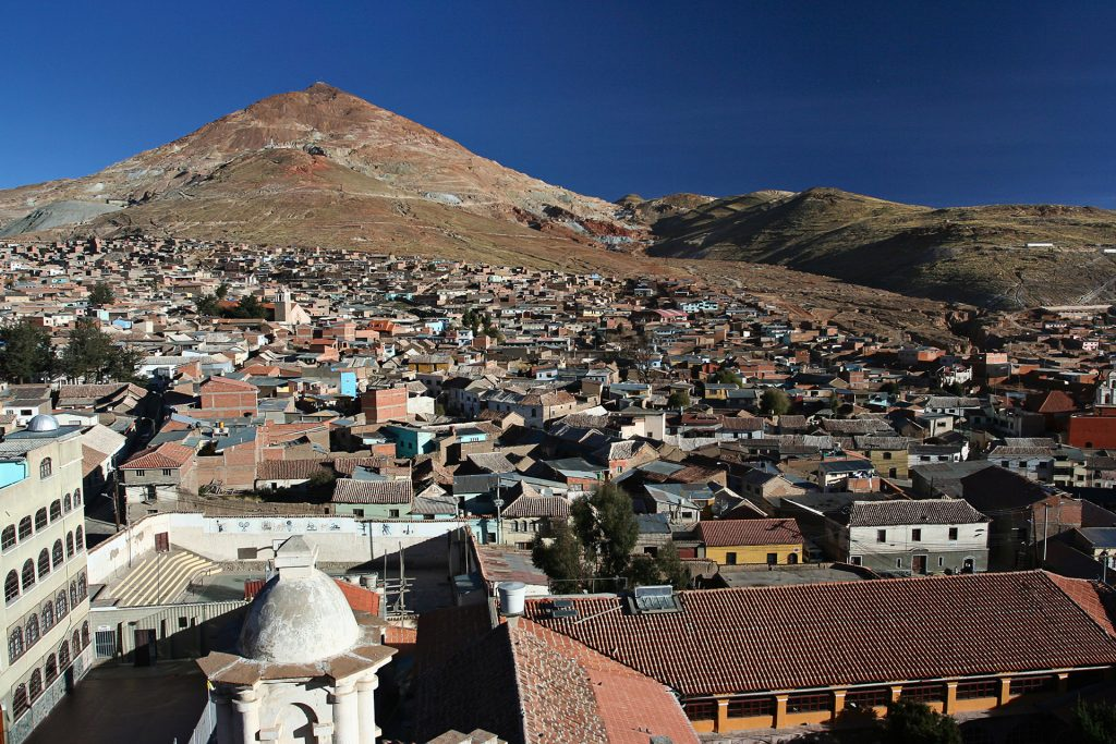 Rooftops of Potosi and Cerro Rico